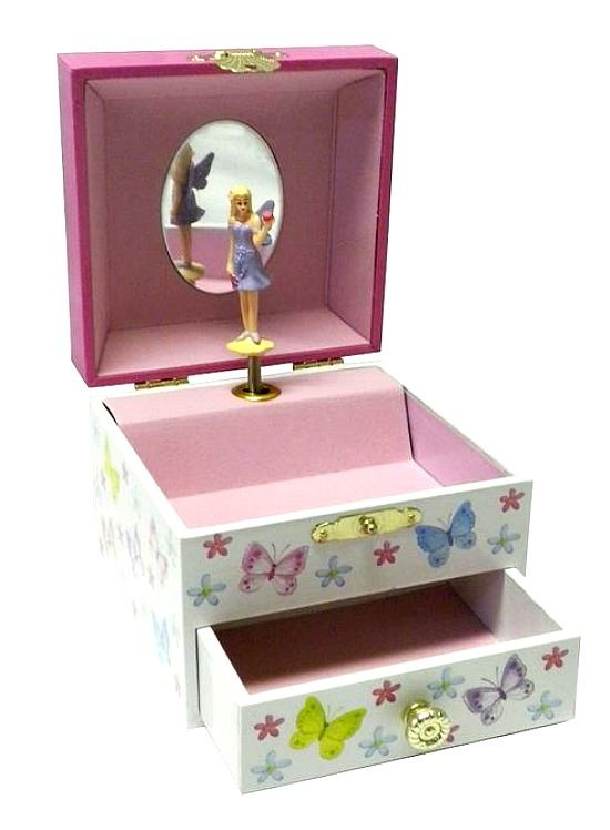 new toysmith butterfly fairy princess musical jewelry box