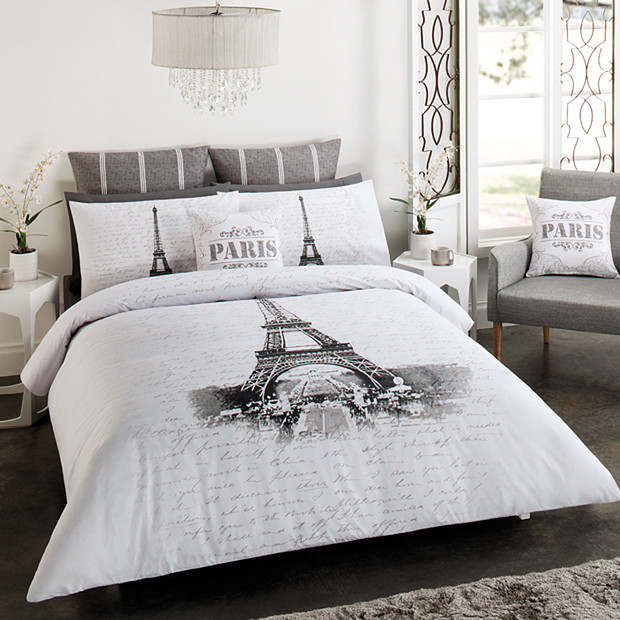 PARIS EIFFEL TOWER DOUBLE FULL bed QUILT DOONA COVER SET ...