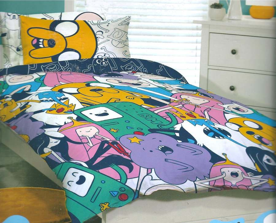 Adventure time jake finn queen bed quilt doona cover set for Jake quilted bedding