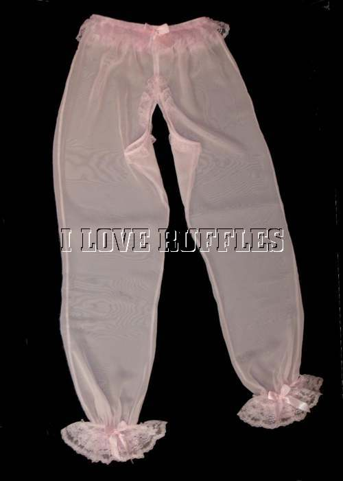 RO-3  OPEN CROTCH LONG NYLON PANTS