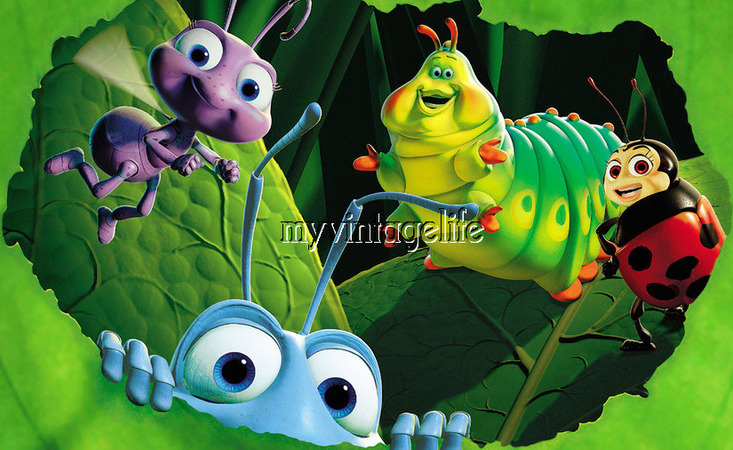 A Bug's Life 3 sizes Quilting Fabric Block