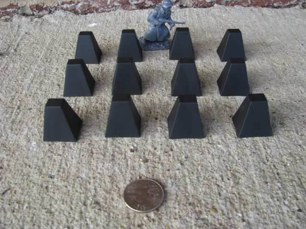 WWII-D-Day-Tank-Traps-BMC-Toy-Soldiers-1-32-54MM-Diorama-Playset-Black