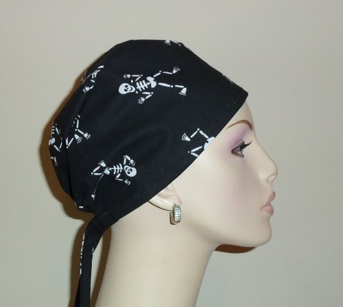 Skeletons Tie Back Scrub Hat