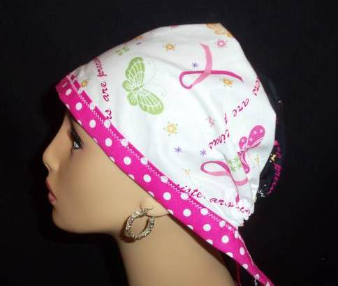 Pink Ribbons & Dots Pixie Tie Back