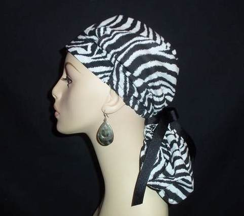 Zebra So Cute Pony Tail Scrub Hat