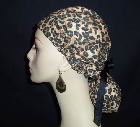 Leopard So Cute Ponytail Style Hat