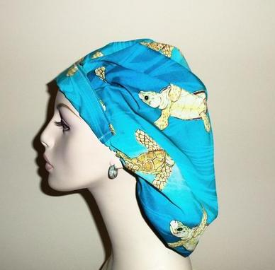 So Cute Turtles Bouffant or PonyTail Scrub Hat