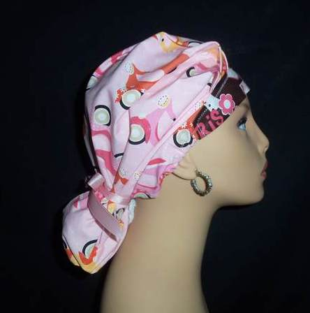 Paris In The Spring So Cute Ponytail Scrub Hat