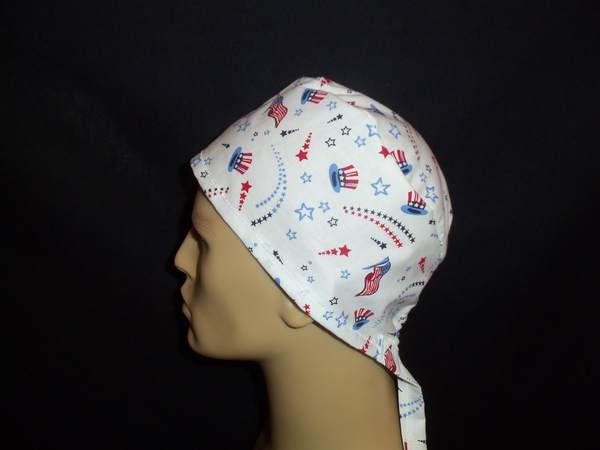 Love The USA Tie Back Scrub Hat