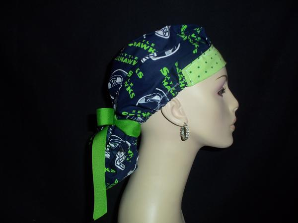 Seattle Seahawks So Cute Ponytail Style & Dots