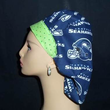 Seattle Seahawks Bouffant & Dots