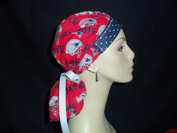 New England Patriots New Red Fabric w/Tie Back Ribbon