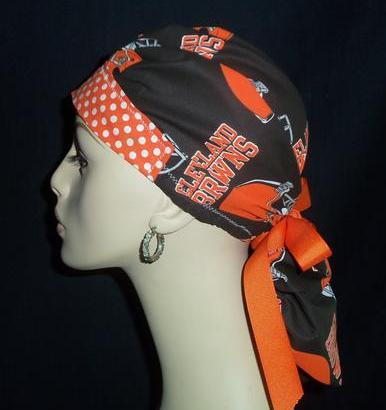 Clevelad Browns & Dots So Cute Ponytail Style Hat
