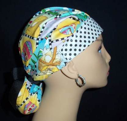 Easter Luv So Cute Pony Tail Scrub Hat