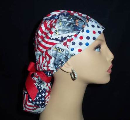 USA So Cute Pony Tail Scrub Hat