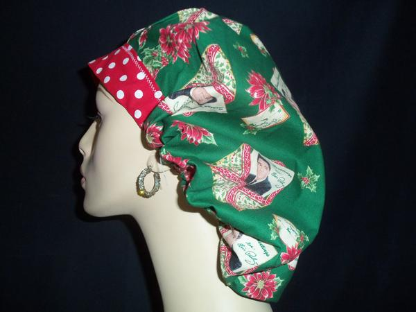 Elvis Christmas & Dots OOAK Bouffant