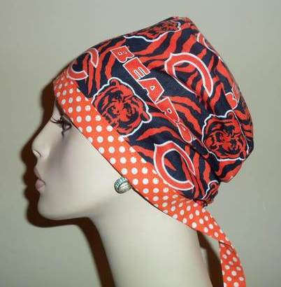 Chicago Bears & Dots Tie Back Style