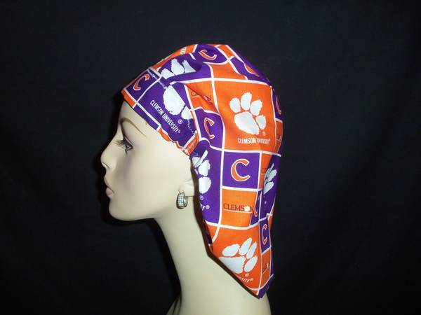 Clemson Tigers University Bouffant Scrub Hat