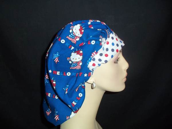 Hello Kitty Patriotic Bouffant