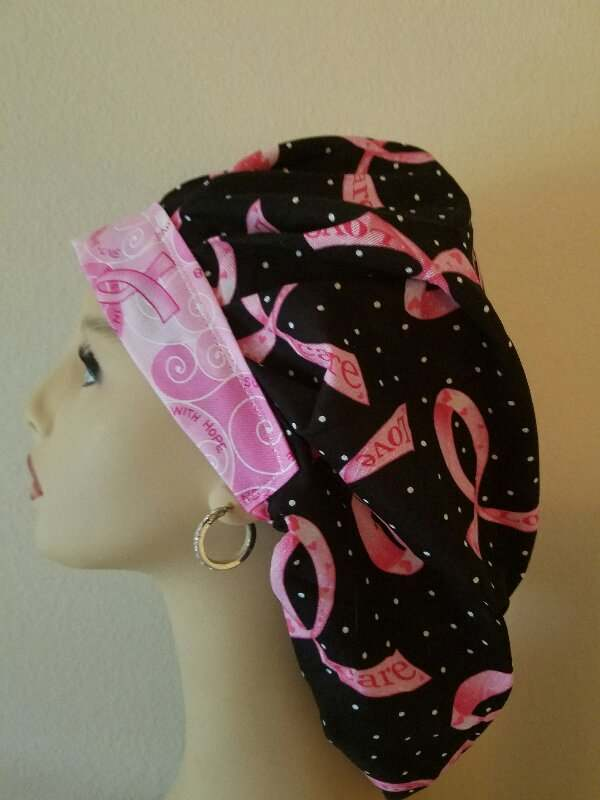 Pink Ribbons Support OOAK  Bouffant