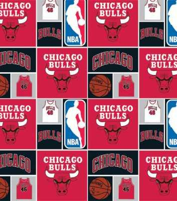Chicago Bulls NBA Vintage Fabric