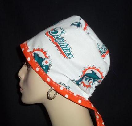 Miami Dolphins Rare out of Print Fabric Tie Back & Dots