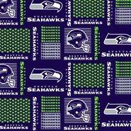 Seattle Seahawks New Fabric Bouffant or Tie Back